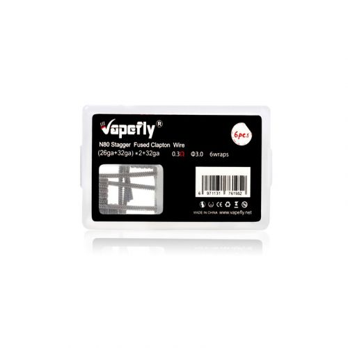Vapefly 6 Stk. Coils und Watte - N80 Staggered Fused Clapton