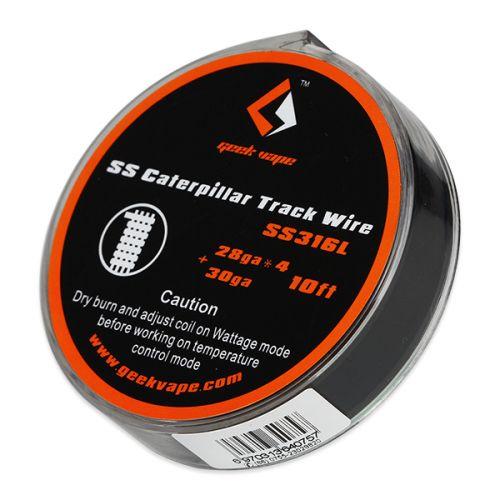GeekVape SS Caterpillar Track Draht, 28GAx4+30GA