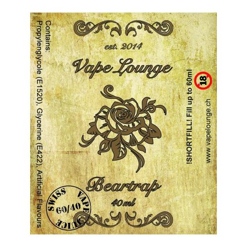 Vapelounge Premium - Beartrap - 40/60ml Shortfill Liquid