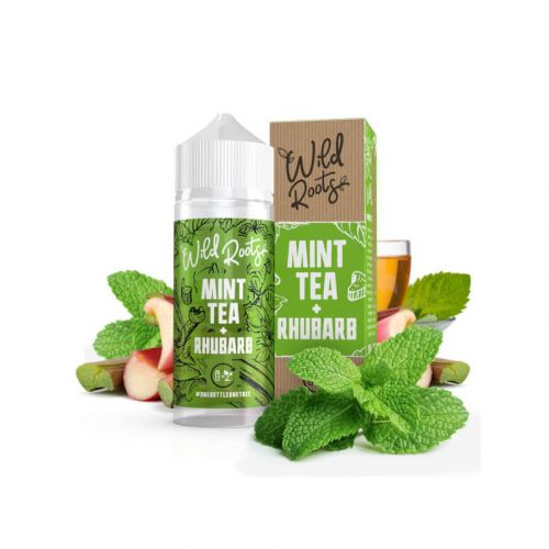 Wild Roots - Mint Tea with Rhubarb - 100/120ml Shortfill Liquid