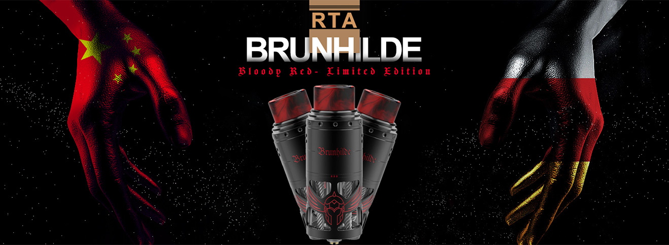 Vapefly Brunhilde RTA-Bloody Red - Limited Edition