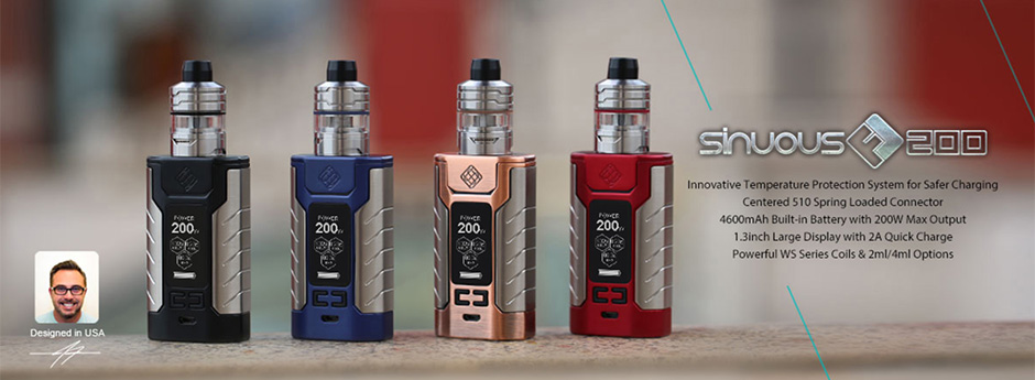 Wismec Sinuous FJ200 Set Kit Slider