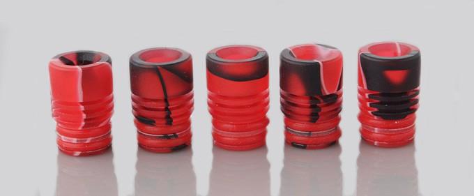 Rot-Schwarz-Weiss Acryl DripTip